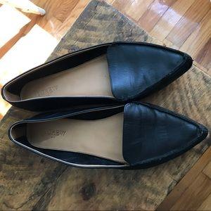 J crew black ballet flat pointed shoes G1812 sz11